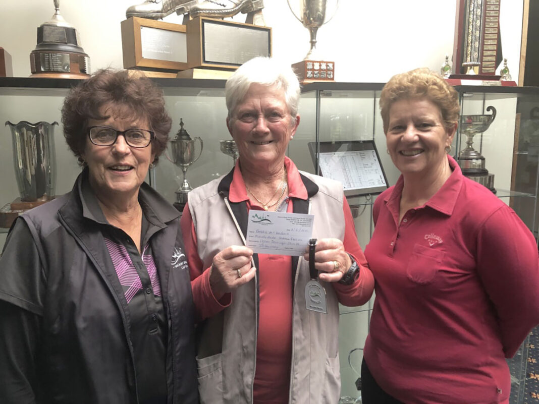MEDAL CELEBRATION: Di Norman, Betty McKechnie and Heather Teakle